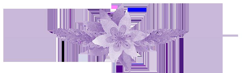 separador flor morada