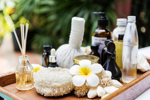 Spa products massage and body care